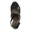 Dámské kožené sandály bata, černá, 644-6100 - 19