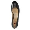 Černé kožené lodičky na nízkém podpatku hogl, černá, 624-6005 - 19
