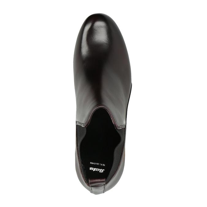 Kožená kotníčková obuv na vysokém podpatku bata, 796-5605 - 19
