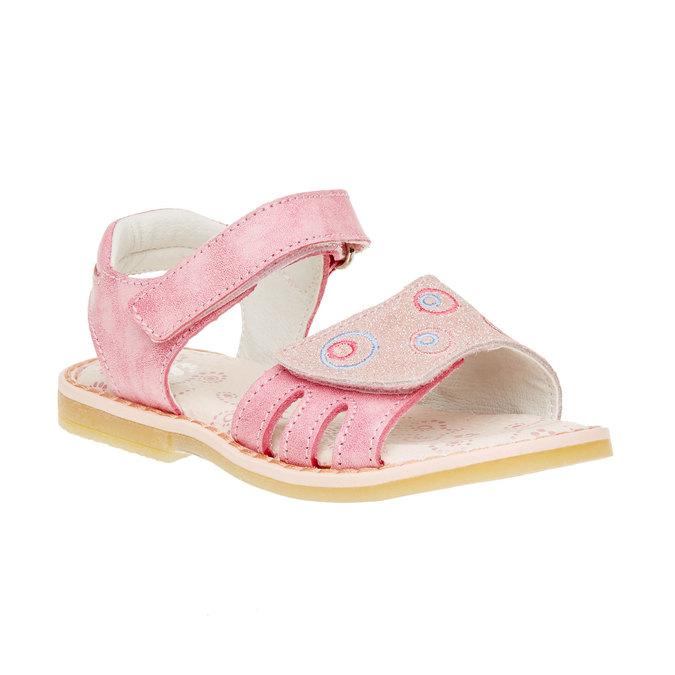 Dětské kožené sandály mini-b, růžová, 266-5310 - 13