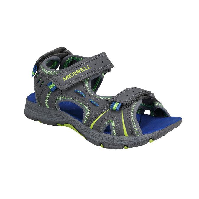 Kožené sandály merrell, šedá, 361-2100 - 13