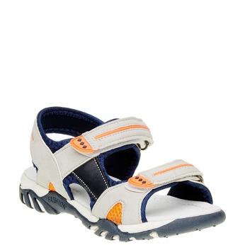 Dětské sandály mini-b, šedá, 361-2181 - 13