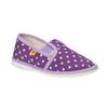 Dětská domácí obuv s puntíky bata, fialová, 279-9103 - 13