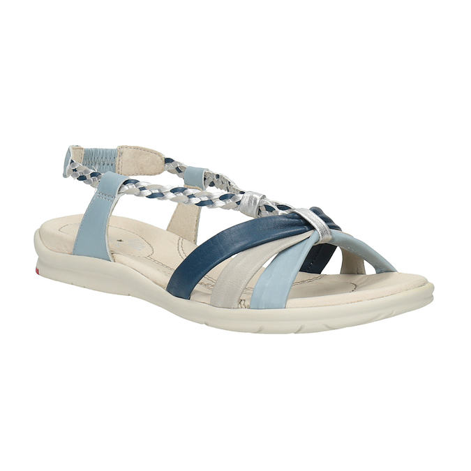 Dámské kožené sandály bata-touch-me, modrá, 564-9353 - 13
