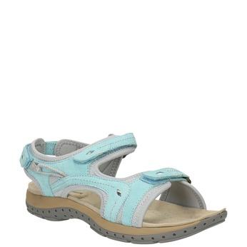 Dámské kožené sportovní sandály weinbrenner, modrá, 566-9103 - 13