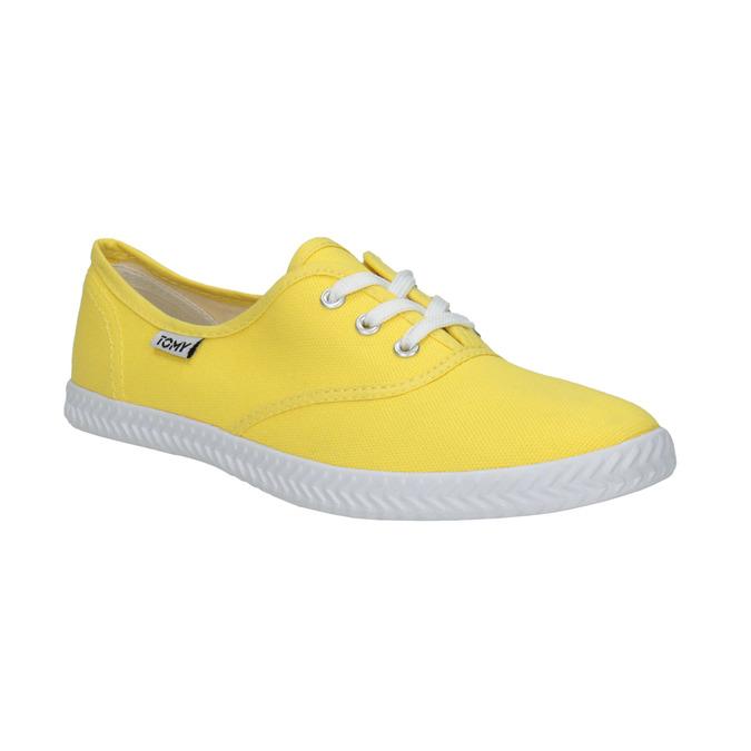Žluté dámské tenisky tomy-takkies, žlutá, 519-8691 - 13