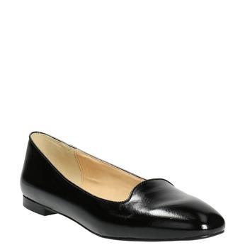 Dámské kožené baleríny bata, černá, 528-6630 - 13