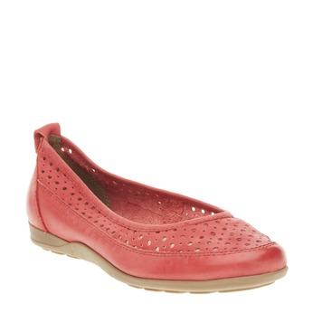 Červené kožené baleríny bata, červená, 526-5496 - 13