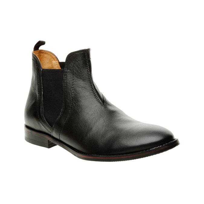 Dámské kožené Chelsea Boots bata, černá, 594-6267 - 13