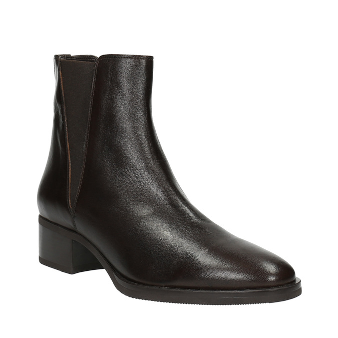 Kožené kotníčkové boty s pružnými boky bata, hnědá, 596-4623 - 13
