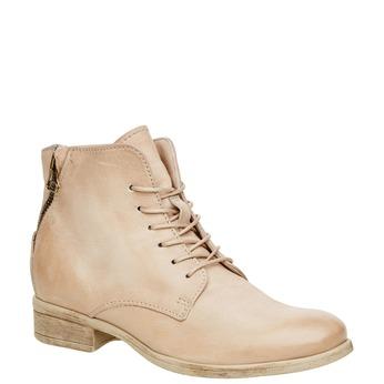 Kožené kotníčkové boty se zipem bata, bílá, 596-1103 - 13