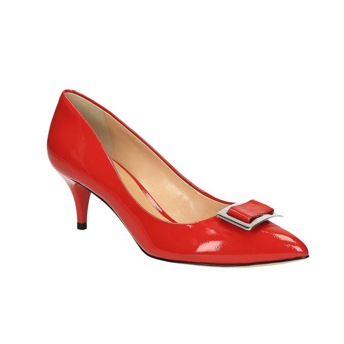 Dámské červené kožené lodičky bata, červená, 628-5630 - 13