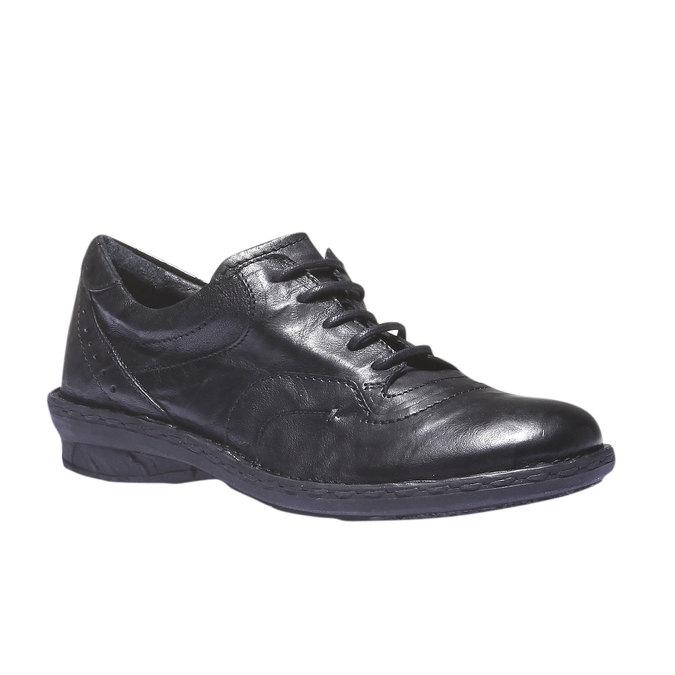 Ležérní kožené tenisky bata, černá, 624-6111 - 13