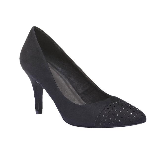 Lodičky s prodlouženou špičkou bata, černá, 629-6100 - 13