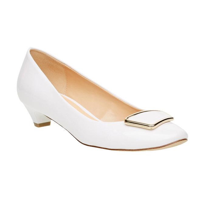 Lodičky na nízkém podpatku bata, bílá, 621-1201 - 13