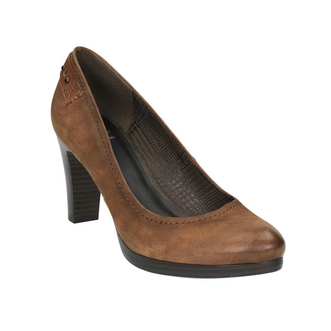 Dámské lodičky na širším podpatku bata, hnědá, 626-4602 - 13