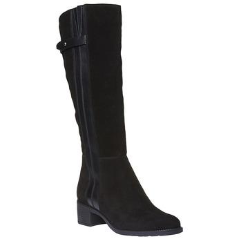 Kozačky z broušené kůže bata, černá, 693-6100 - 13
