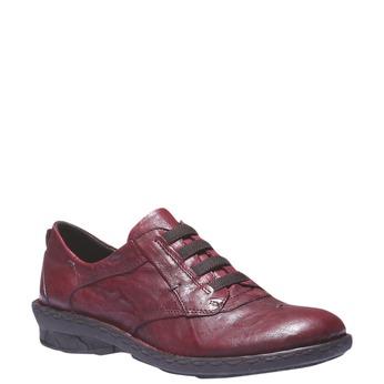 Dámská kožená obuv bata, červená, 624-5111 - 13