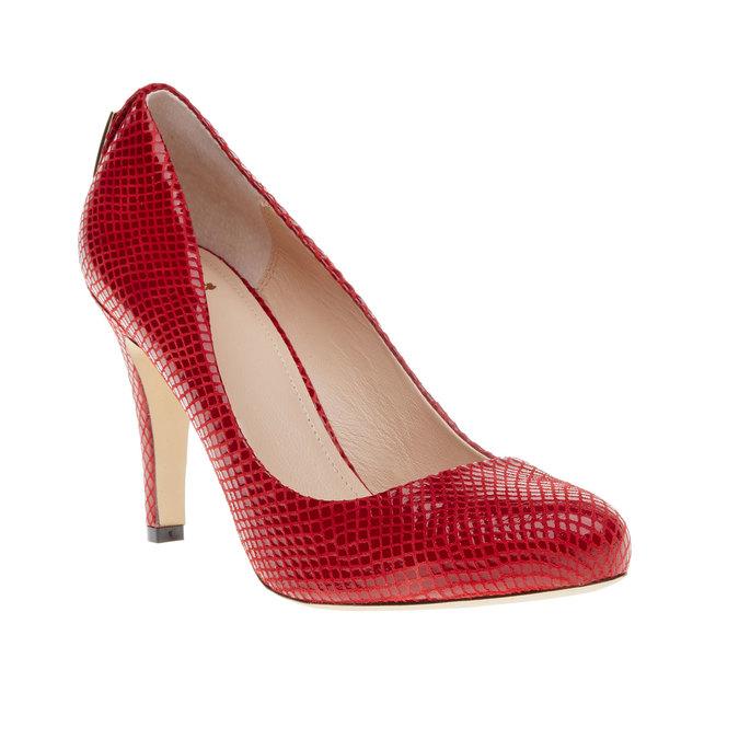 Červené kožené lodičky bata, červená, 726-5102 - 13