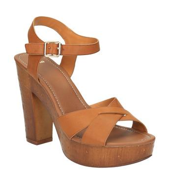 Sandály na masivním podpatku bata, hnědá, 761-3500 - 13