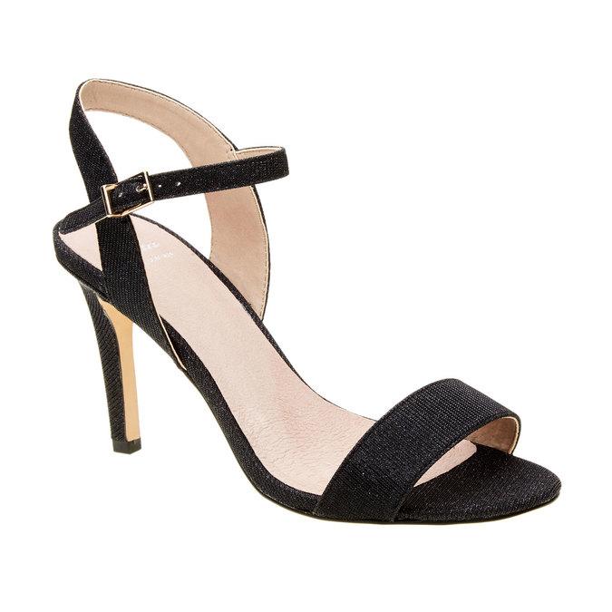 Sandály na jehlovém podpatku bata, černá, 761-6310 - 13