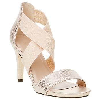 Dámské kožené sandály bata, béžová, 769-1300 - 13
