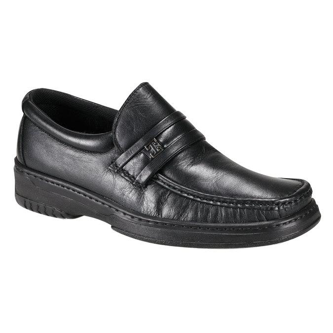 Kožená obuv pinosos, černá, 814-6120 - 13
