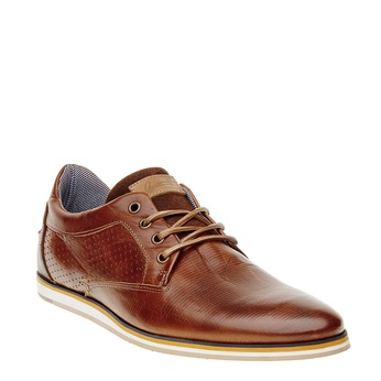 Ležérní kožené polobotky bata, hnědá, 824-4290 - 13