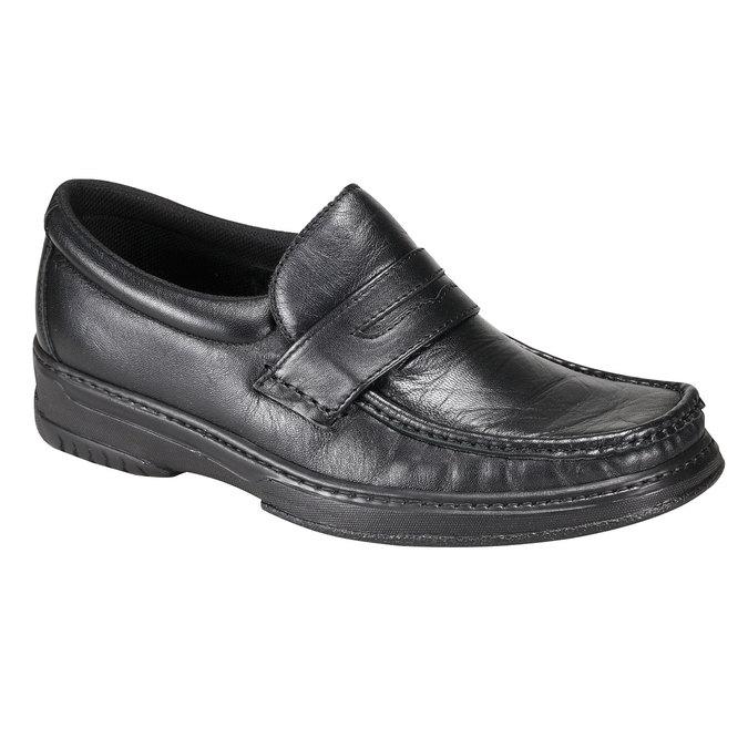 Kožená obuv pinosos, černá, 814-6119 - 13