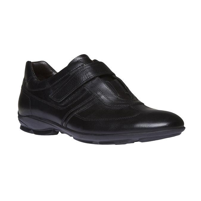 Pánské kožené tenisky bata, černá, 814-6989 - 13