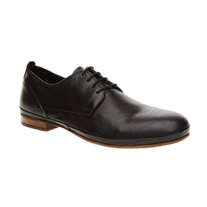 Kožené polobotky v Derby střihu bata, černá, 824-6300 - 13