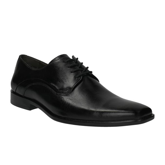 Pánské kožené polobotky bata, černá, 824-6720 - 13