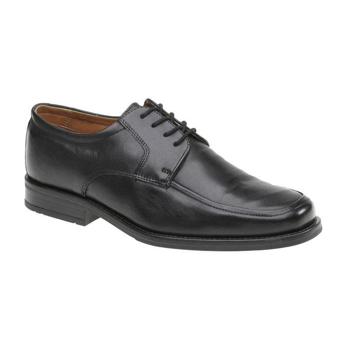 Kožené polobotky v Derby stylu bata, černá, 824-6509 - 13
