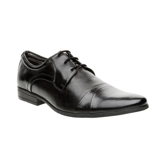 Pánské kožené polobotky bata, černá, 824-6834 - 13