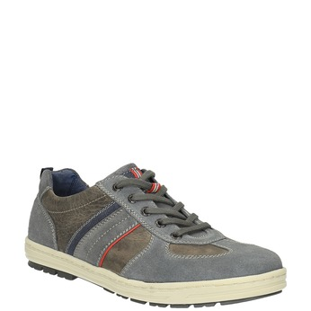 Pánské kožené tenisky bata, šedá, 826-2649 - 13