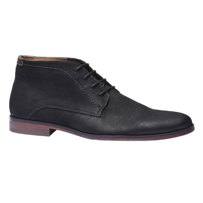Kožená obuv v Chukka stylu bata, černá, 844-6171 - 13