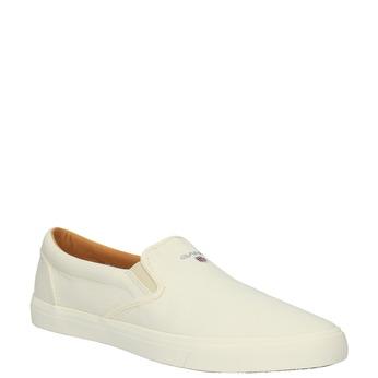 Pánská obuv Slip-On gant, bílá, 839-1005 - 13