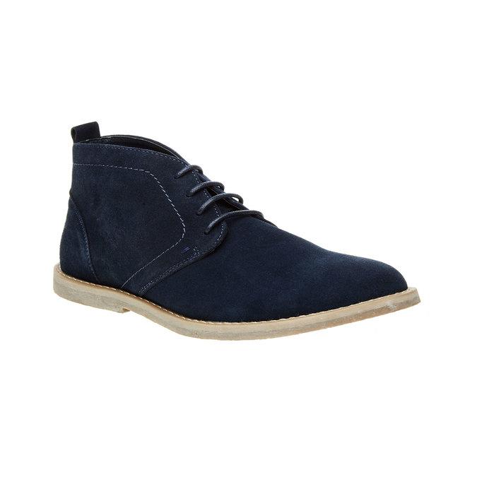 Semišové Chukka boots bata, modrá, 843-9641 - 13