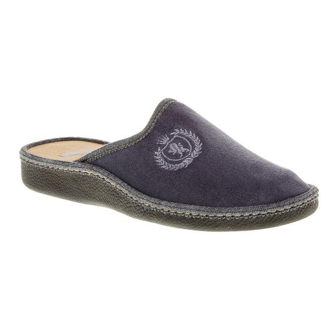 Pánská domácí obuv bata, šedá, 879-2165 - 13