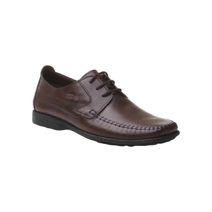 Kožená obuv na šněrování bata, hnědá, 854-4836 - 13