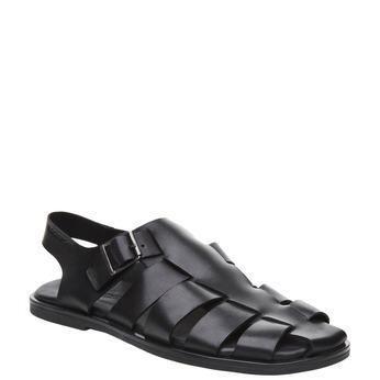 Černé pánské kožené sandály rockport, černá, 864-6104 - 13