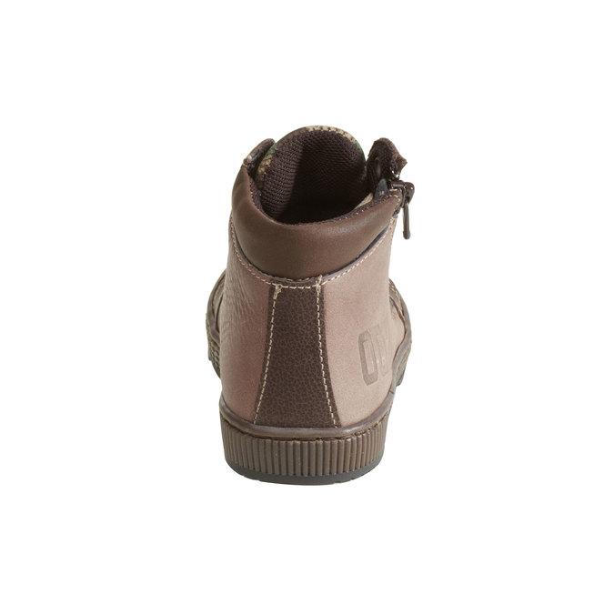 Kožené chlapecké kotníkové boty mini-b, hnědá, 114-4135 - 17