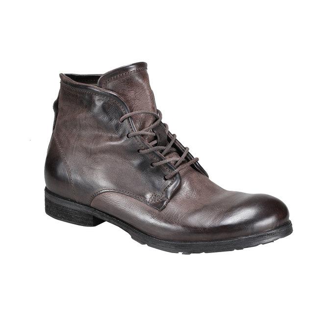 Kožená kotníčková obuv a-s-98, hnědá, 896-4007 - 13