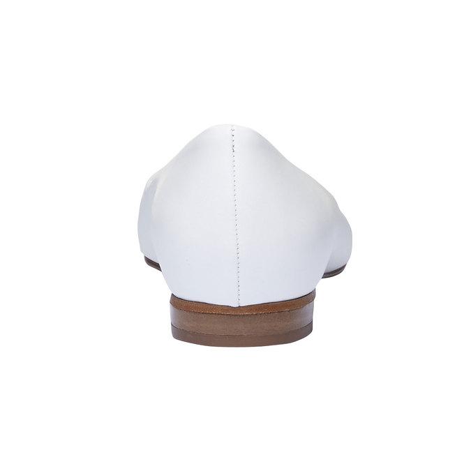 Bílé kožené baleríny do špičky bata, bílá, 524-1493 - 17