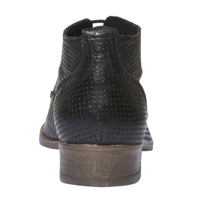 Dámské kožené kotníčkové boty bata, černá, 524-6468 - 17