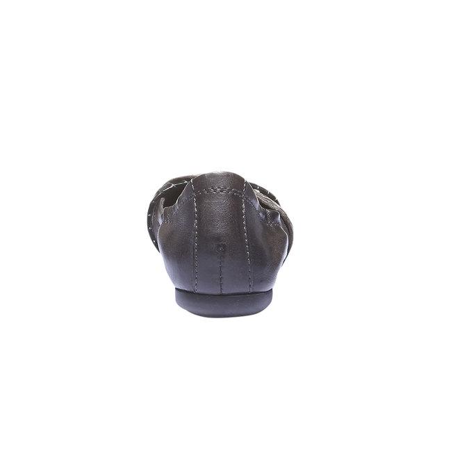 Kožené baleríny bata, šedá, 526-2100 - 17