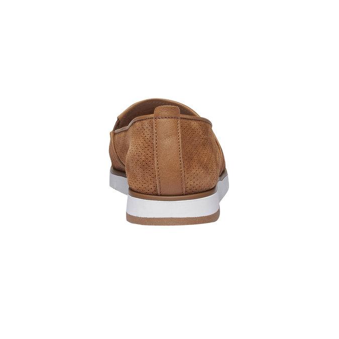 Kožené Slip-on boty s perforací flexible, hnědá, 513-3200 - 17
