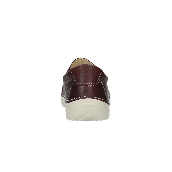Dámské kožené Slip on flexible, červená, 526-5604 - 17