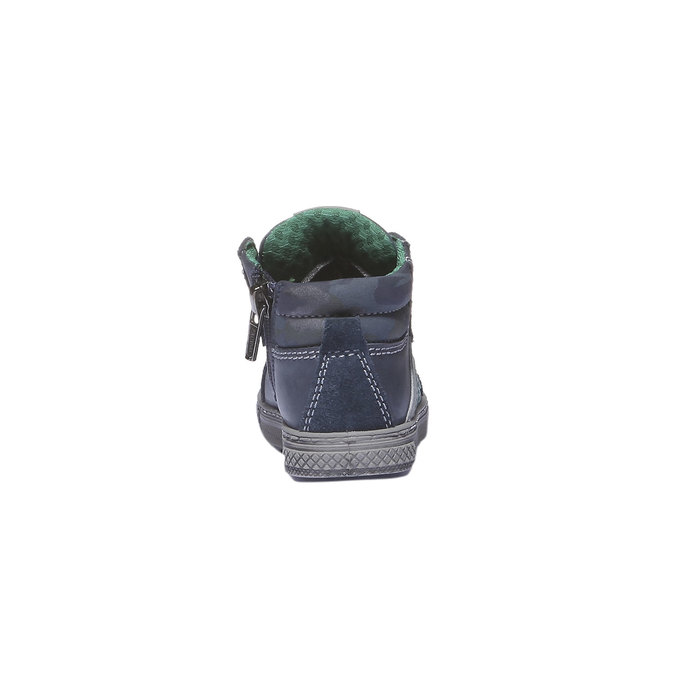 Kožené kotníkové boty ke kotníkům primigi, modrá, 114-9133 - 17