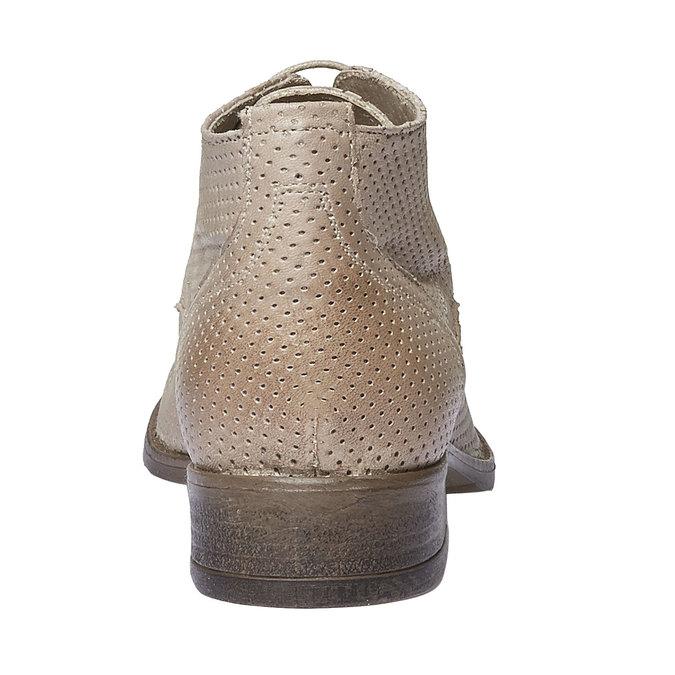 Dámské kožené kotníčkové boty bata, béžová, 524-8468 - 17